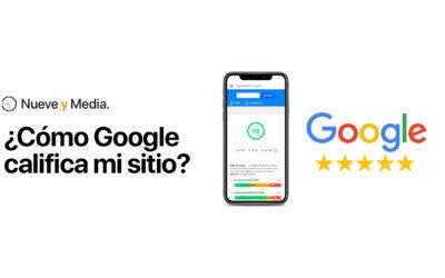 ¿Cómo Google califica mi sitio?
